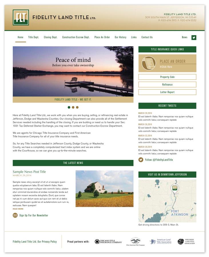 FIdelity Land Title Web Design