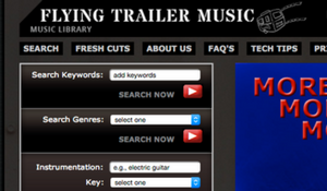 Flying Trailer Music Website